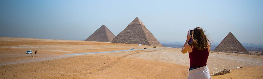Day One:Fly from Hurghada to Cairo - Visit Giza Pyramids - The Egyptian Museum