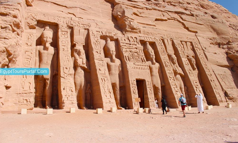 Queen Nefertari Temple At Abu Simbel Temple - Egypt Tours Portal