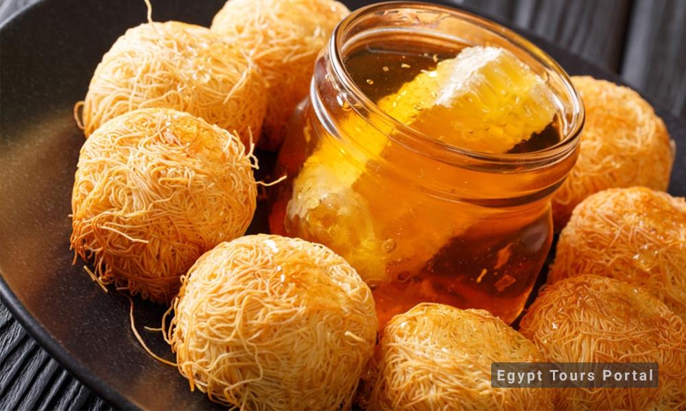 Konafa - Egyptian Food - Egypt Tours Porta